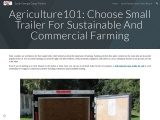 Agriculture101: Choose Small Trailer For Sustainable And Commercial Farming