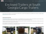 Enclosed Trailers at South Georgia Cargo Trailers