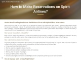 How to make reservations Spirit Airlines?