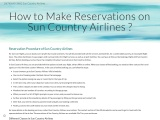 How to make reservations on Sun Country Airlines?