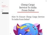 Cheap Cargo Service To India From Dubai – Tameem Cargo