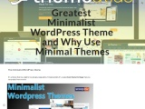 Greatest Minimalist WordPress Theme and Why Use Minimal Themes