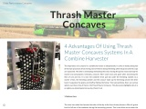 4 Advantages Of Using Thrash Master Concaves Systems In A Combine Harvester