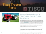 Explore Extensive Range Of Tisco Tractor Parts At Quality Farm Supply