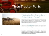 Why Buying Tisco Tractor Parts Online is Better Option?
