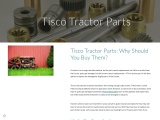 Tisco Tractor Parts: Why Should You Buy Them?