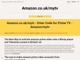 Amazon.co.uk/mytv to activate Amazon Prime Video in the UK