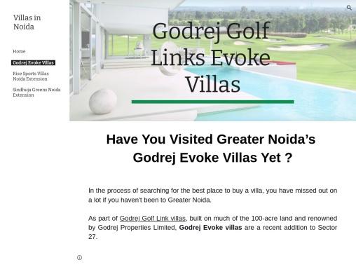 Have You Visited Greater Noida's Godrej Evoke Villas Yet?