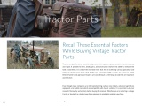 Recall These Essential Factors While Buying Vintage Tractor Parts