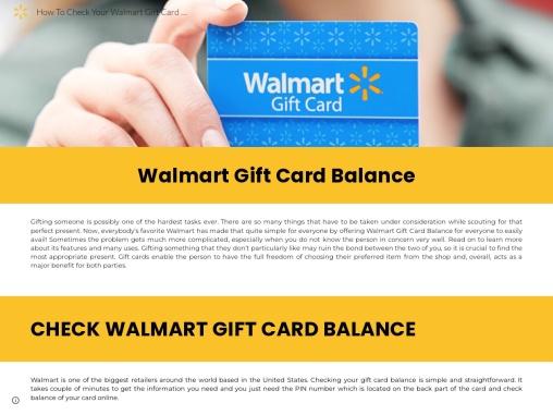 How do I use my remaining Walmart gift card balance?