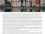 Lets look at Water Damage Restoration
