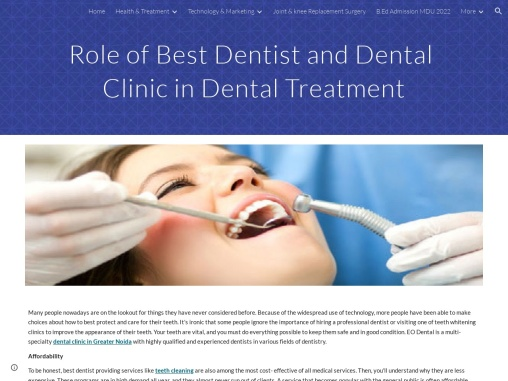 Role of Best Dentist and Dental Clinic in Dental Treatment