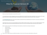 What Do Financial Advisors Do – know here