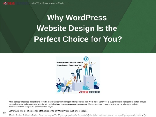 Why WordPress Website Design Is the Perfect Choice for You?