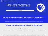 Pbs.org/activate   pbskids.org/activate