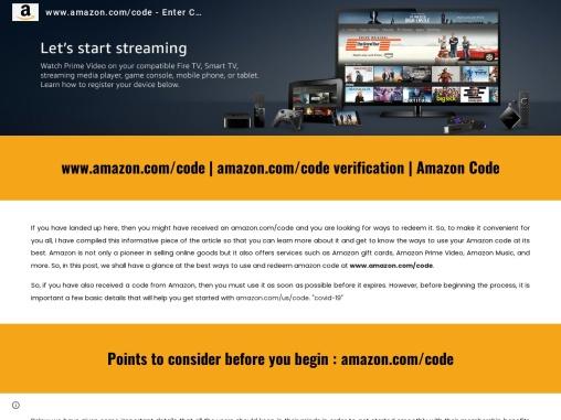 How do I activate Amazon Prime in amazon.com/code