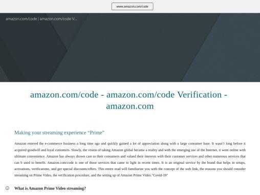 amazon.com/code – amazon.com/code Verification – amazon.com