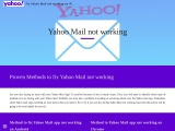 What to do if yahoo mail not working