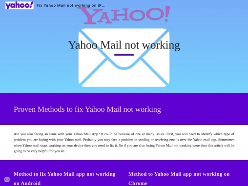 Yahoo mail not working in Chrome