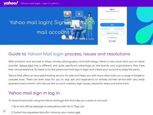 How to Yahoo mail login and sign in?
