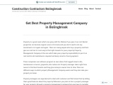 Best Property Management Company in Bolingbrook