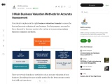 3 Main Business Valuation Methods for Accurate Assessment