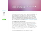 What Level Of Small Business Bookkeeping Services Do You Need?