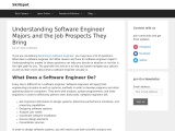 Understanding software engineer majors and the job prospects they bring