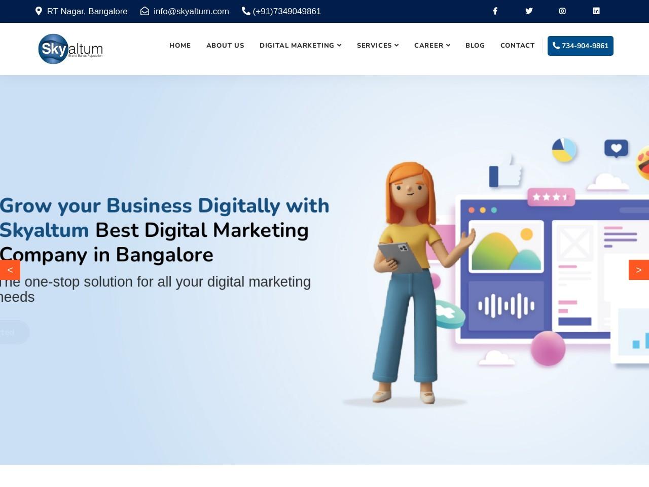 Best Website Design Company in Bangalore | Skyaltum