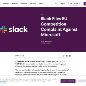 Slack Files EU Competition Complaint Against Microsoft | Slack