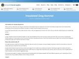 Insulated Dog Kennel – Slaneyside Kennels