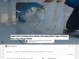 Important Considerations When Choosing Which Type of Epoxy Floor Your Home Needs