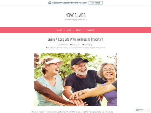 Living A Long Life With Wellness Is Important