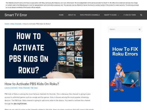 What is the Process to Activate PBS Kids On Roku