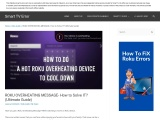 Detailed Guide To Resolve Roku Overheating Message