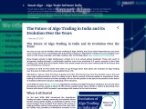 The Future of Algo Trading in India and its Evolution Over the Years