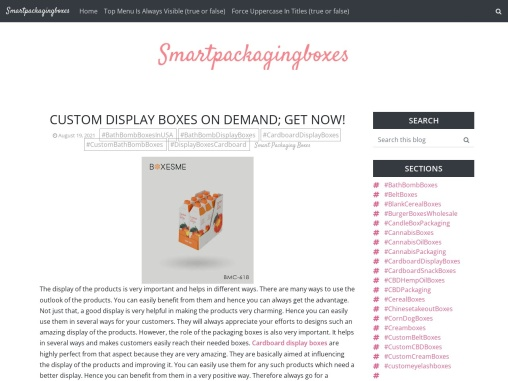 Custom display boxes on demand; get now!