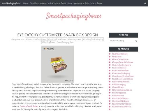 Eye Catchy customized snack box Design