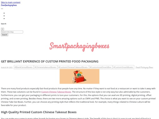 Get brilliant Experience of custom printed Chinese Take Out Boxes