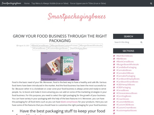 Grow Your Food Business through the Right Packaging