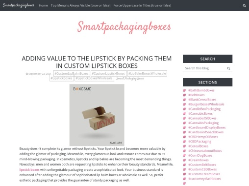 Adding value to the lipstick by packing them in custom lipstick Boxes