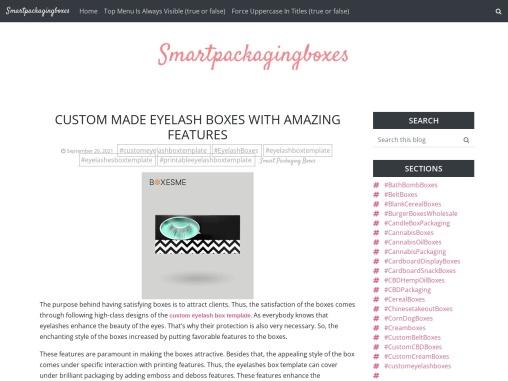 Custom made eyelash boxes with amazing features