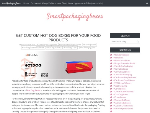 Get custom hot dog Boxes for your food products