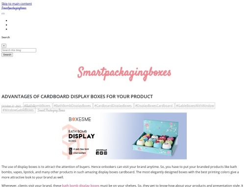 Advantages of cardboard display boxes for your product