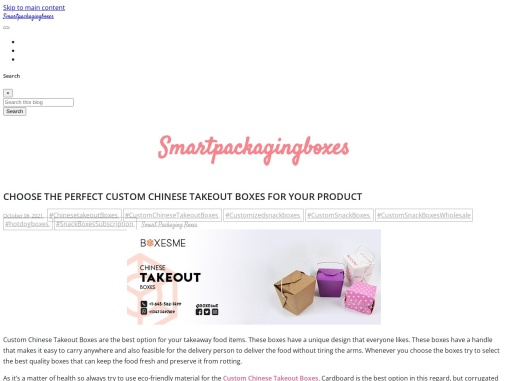 Choose the perfect Custom Chinese Takeout Boxes for your product