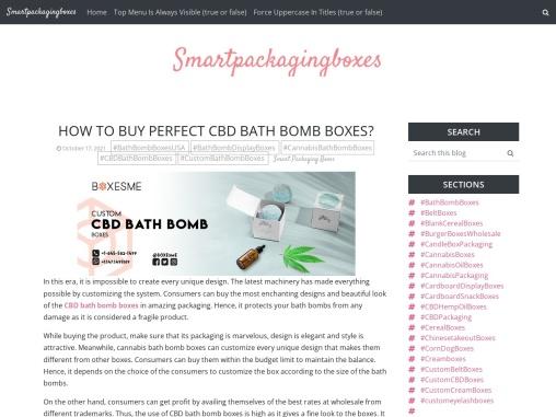 How to buy perfect CBD Bath Bomb Boxes?