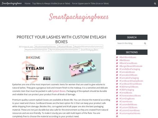 Protect your Lashes With Custom eyelash boxes