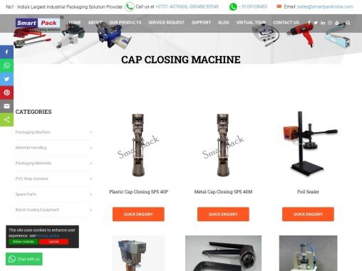 Cap Closing Machine in India