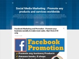 Social Media Marketing : Promote any products and services worldwide