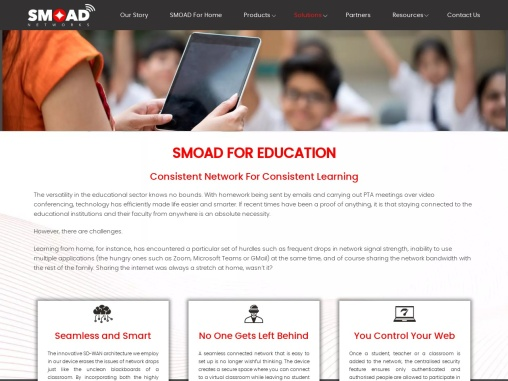 SMOAD Networks Solutions for Education